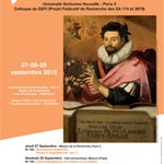 Colloque : &laquo;&nbsp;Vies d&#8217;crivains, Vies d&#8217;artistes dans l&#8217;Europe moderne (Espagne, France, XVe-XVIIe sicles)&nbsp;&raquo;