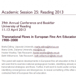 Appel à communication : « Transnational Flows (11-13 avril 2013, AAH Reading)