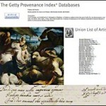 Présentation : « The Getty Provenance Index » (Paris, vendredi 1er février 2013)