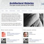 Appel à publication pour Architectural Histories