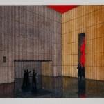 Richard Peduzzi, Étude pour Hercules, aquarelle, 2003 (mise en scène Luc Bondy, 2004, théâtre de l'Archevéché) © Béatrice Atala.