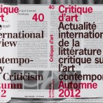 Appel à publication : Revue Critique d'art