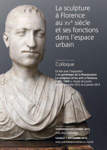 Visuel Colloque Sculpture à Florence XVe