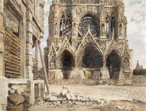 bouchor, Cathédrale de Reims, 1917