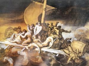 Géricault, esquisse préparatoire du Radeau de la Méduse