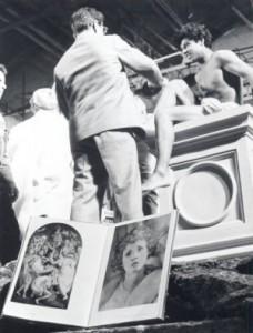 Pasolini, tournage de la Ricotta, 1963