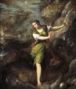 Titien, Sainte Marguerite et le dragon, Prado, Madrid