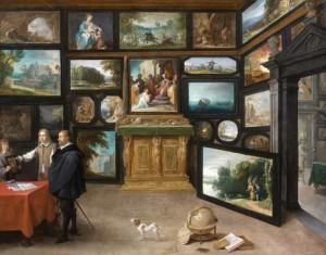 David Teniers, L'Intérieur d'une galerie de peinture, 1640-1650, collection particulière