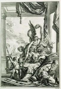 La muse Clio et le Temps enchainé, 1753