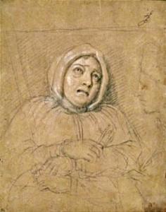 Charles Le Brun, Portrait de Marie Madeleine de Brinvilliers, le jour de son exécution, 1676, Paris, Louvre