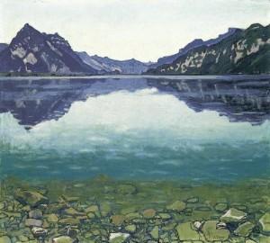 Ferdinand Hodler, Le lac de Thoune aux reflets, 1904, Collection particulière