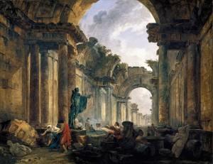 Hubert Robert, La grande galerie du Louvre en ruine, 1796, Paris, Louvre