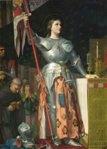 J. D. Ingres, Jeanne d'Arc au sacre du roi Charles VII, Paris, Louvre