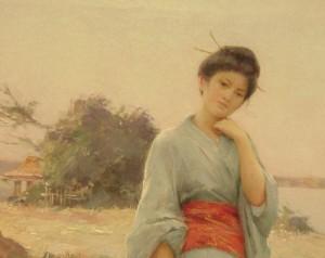 Louis Joseph Raphael Collin, Le Kimono bleu
