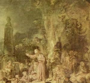 Rembrandt, La Prédication de Saint Jean, Détail, Berlin, Gemaldegalerie