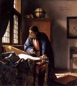 Johannes Vermeer, Le Géographe, 1669, Francfort-sur-le-Main