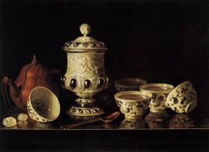 Pieter Gerritsz. van Roestraeten, Nature morte avec tasses chinoises, 1645-1700, Berlin
