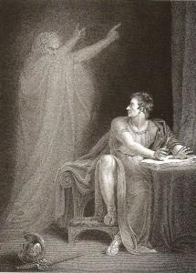 Richard Westall, Jules César, Acte 4 Scene 3. Le fantôme de César apparaît à Brutus, 1802
