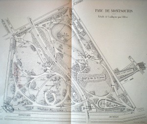 Fig. 3. Plan du parc en 1904, VM 90 405, Archives de Paris.
