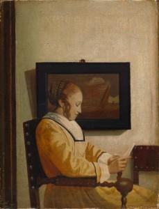 Faux Vermeer, Jeune-femme-lisant une lettre, vers 1925, New-York, MET