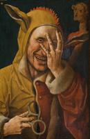 Jacob Cornelisz. van Oostsanen ?, Fou riant ca. 1500,  Davis museum