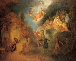Watteau, Le Rêve de l'artiste, 1707-19, Collection privée