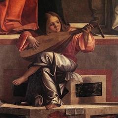 Vittore CARPACCIO - presentation de Jesus au temple (detail: un ange musicien)