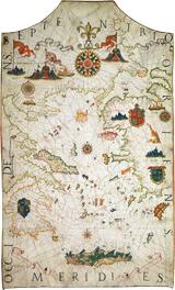 Carte de la mer méditerranée