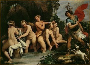 Cavalier d'Arpin, Diane et Acteon, 1606, Louvre