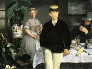 Edouard Manet, Le déjeuner dans l'atelier, 1868, Munich