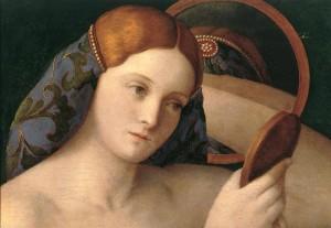 Giovanni Bellini, Jeune femme devant un miroir (détail), 1515, Kunsthistorisches Museum, Vienne