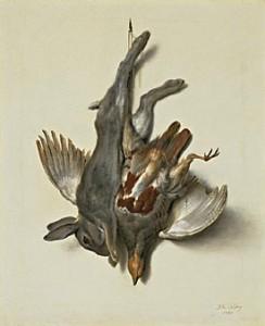 Jean-Baptiste Oudry, Nature morte avec faisan, 1763, Louvre