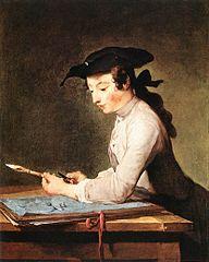 Jean Siméon Chardin, Le Dessinateur, 1737, Berlin