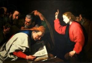 José de Ribera, Le Christ parmi les Docteurs, ca 1630, Vienne