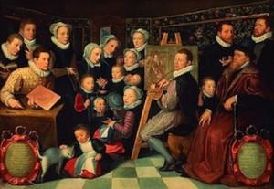 Otto Venius, Portrait de l'artiste entouré de sa famille, 1584