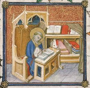 Saint Augustin, Livre de prières de Clément VII Avignon, vers 1378-1383