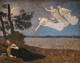 1. Pierre Puvis de Chavannes, Le rêve,   1883, Musée des Beaux- Arts de Budapest