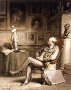 Daumier, L'Amateur, vers 1860-65, New York, Metropolitan Museum