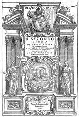 Andrea Palladio, Frontispice du livre II des Quatre Livres de l'Architecture, Venise, 1570