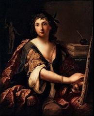 Elisabetta Sirani, Autoportrait, 1658, Moscou, musée Pouchkine