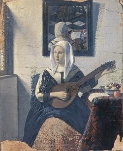 Faux Vermeer, Femme jouant du luth, Han van Meegeren, vers 1933, Rijksmuseum, Amsterdam