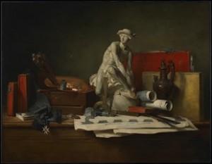 Jean-Siméon Chardin, Les attributs des arts, 1766. Huile sur toile, 108 x 145 cm. Minneapolis