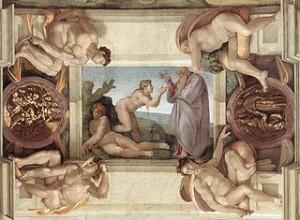 Michel-Ange, Création d'Eve, 1509-1510, Chapelle Sixtine, Vatican