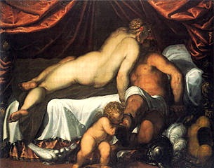 Palma il Giovane, Vénus et Mars, 1590, Londres, National Gallery