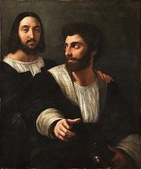 Raphaël, Portrait de l'artiste avec un ami, 1518, Paris, Louvre