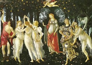 Sandro Botticelli, Le Printemps, 1482, Florence, Offices