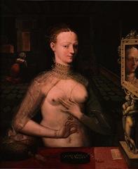 Ecole de Fontainebleau, Dame à sa toilette, vers 1560, Bâle