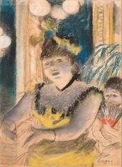 Edgar Degas, La Chanteuse, 1877-79, pastel sur monotype, Norton Simon Museum