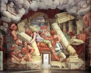 Giulio Romano, Salle des Géants, 1533-1535, Mantoue, Palazzo Te