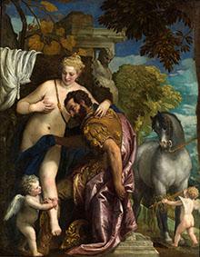 Véronèse, Mars et Vénus unis par l'amour, 1570, New York, MET